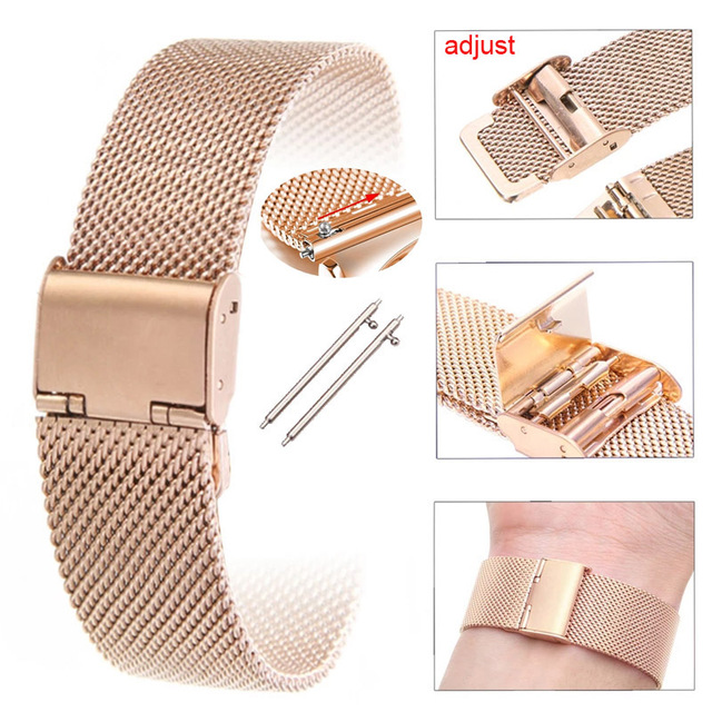 Milanese Stainless Steel Strap For Xiaomi Amazfit Bip U S GTS 2 Mini 2e GTR 2 47mm 42mm Stratos 3 Watchband 20mm 22mm Watch Band 5