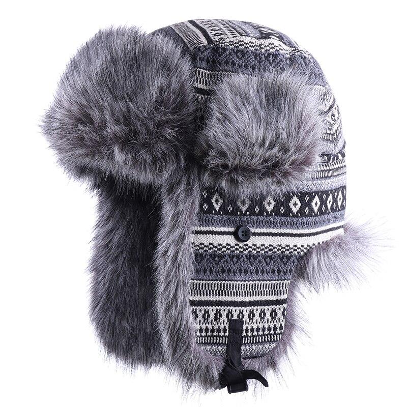 sheepskin Ushanka Russian winter hat Black mouton Trapper Bomber EarFlaps!