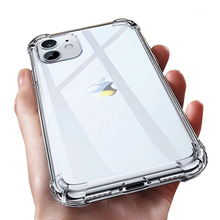 Silicone Case Back-Cover Shockproof Transparent iPhone 11 Luxury 6s Plus for Xr Xs 12/11-pro/Max/8-7