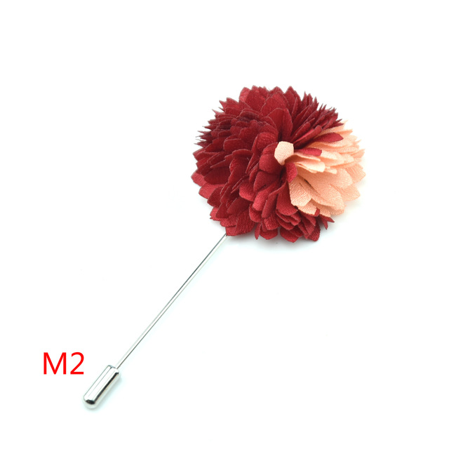 Alternative Wedding Boutonniere Brooch Gifts for Men \u2013 Prom Accessories Mens Rose Lapel Pin Mens Flower Lapel Electric Pink Pin