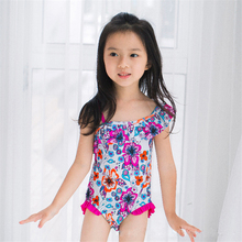 Girls One Piece Swimsuit 2-6 Y Baby Girl Swimwear with flower Children Bathing suits Kids Summer beach swimming wear цена