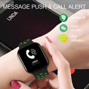 Image 4 - LUOKA F8 פרו חכם שעונים שעון IP67 עמיד למים 15 ימים ארוך המתנה קצב לב לחץ דם Smartwatch תמיכת IOS אנדרואיד