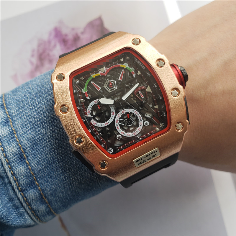 2020 Top Luxury Brand RM Waterproof Watch Male DZ Richard Watches Automatic Wristwatches Mille Man Clock Gift Best Gifts For Men