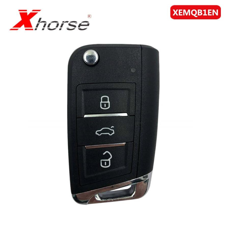 XEMQB1EN Xhorse Super Remote Key MQB Style 3 Buttons Built-in Super Chip 1 Piece