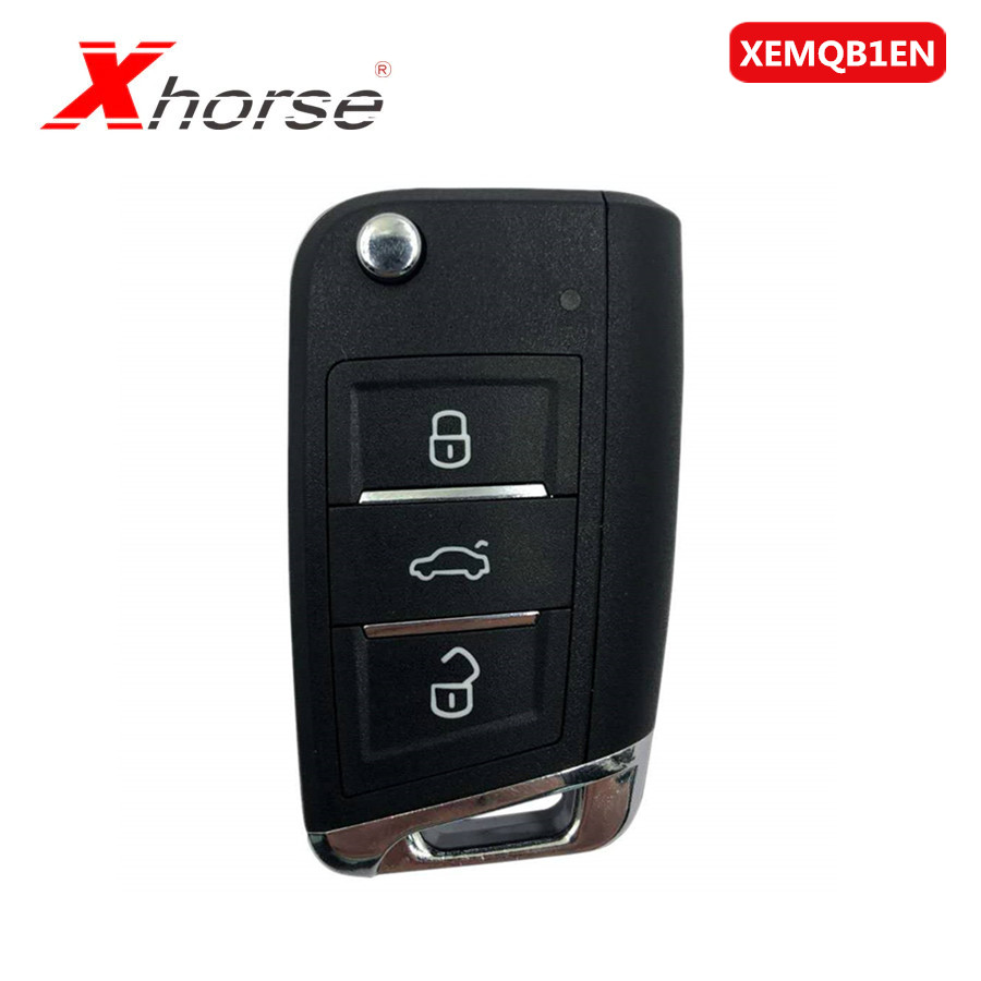 Xhorse XEMQB1EN Super Remote Key MQB Style 3 Buttons Built-in Super Chip English Version 10pcs/lot