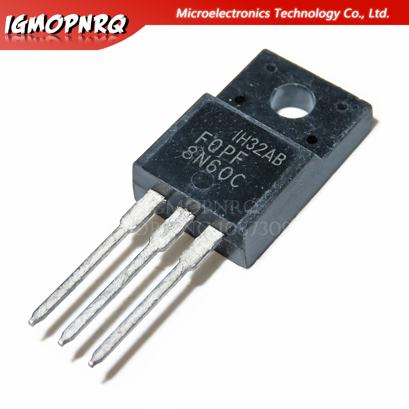 10Pcs 2A 600V Silicon Chip Transistor 2N60 MOSFET N-Channel Field Effect New