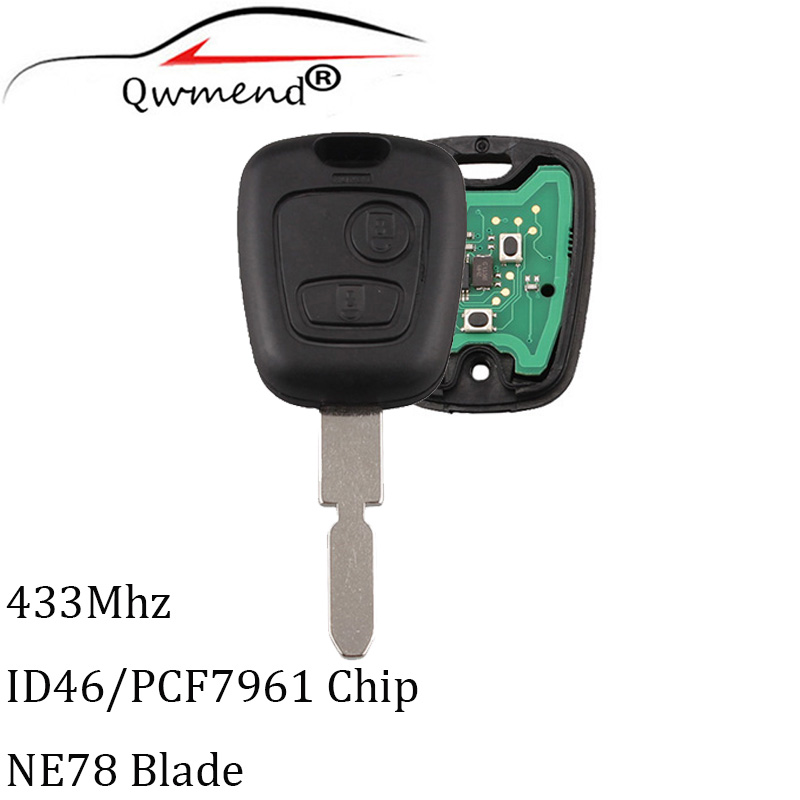 2Buttons NE78 Blade <font><b>Remote</b></font> <font><b>key</b></font> For <font><b>Peugeot</b></font> <font><b>406</b></font> 407 408 607 Transponder Chip ID46/PCF7961 Original <font><b>Remote</b></font> <font><b>keys</b></font> image