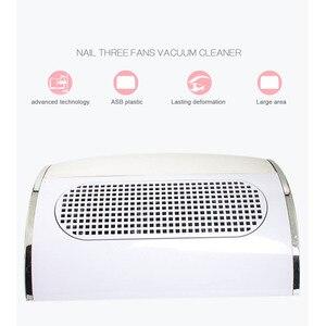 Image 4 - Collecteur de poussière dongles avec 3 ventilateurs, aspirateur puissant, outil de manucure à faible bruit avec 2 sacs de collecte de poussière