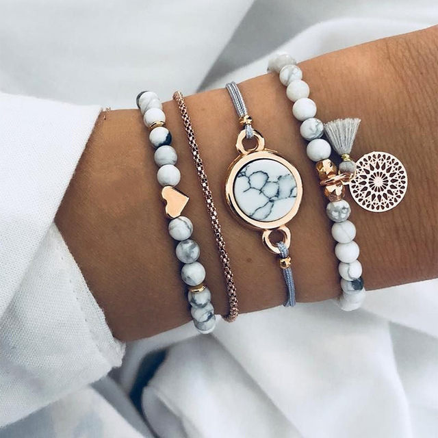 5PCS/SET Women Watch Bracelet Quartz