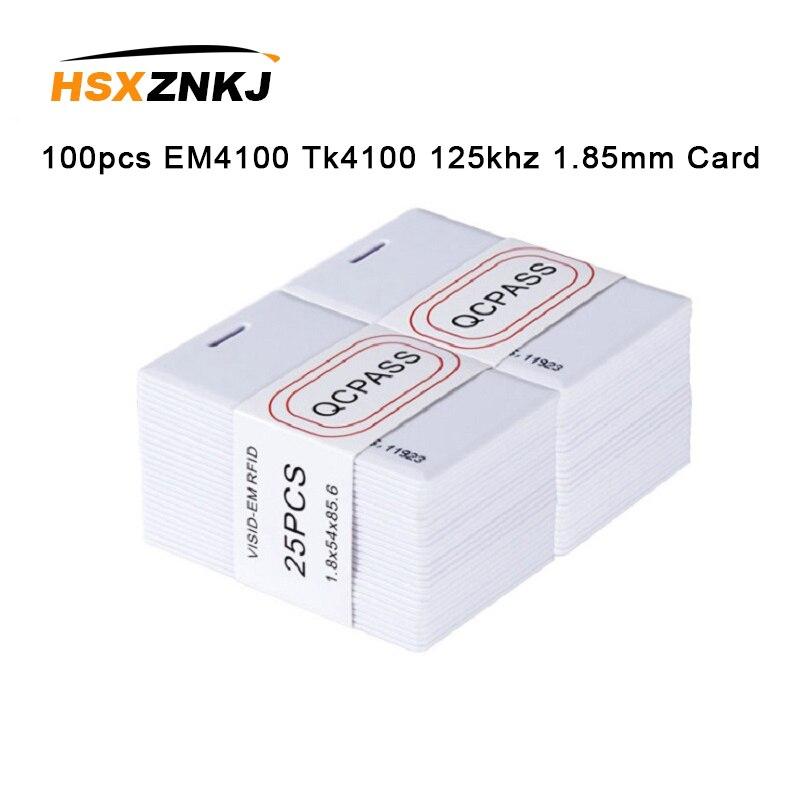 100pcs EM4100 Tk4100 125khz 1.85mm Keyfob RFID Tag Sticker Key Fob Token Ring Proximity Chip  Thin Card Access Control Card