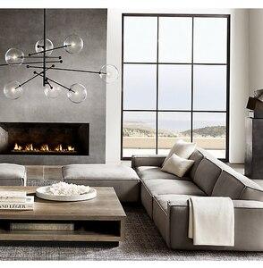 Image 4 - מודרני שעועית תליון תאורת נורדי זכוכית כדור תליית אור לסלון/חדר שינה/חדר אוכל מודרני מעצב אור מתקן