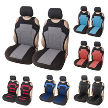 AUTOYOUTH 2pcs Universal Car Seat Covers   Front Seat Covers Mesh Sponge Interior Accessories T Shirt Design   for Car/Truck/Van