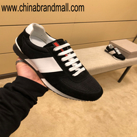 New Men's Shoes European Station Spring Fashion Simple Canvas Lattice Cow Down Mixed Sports Trendy Men's Shoes
