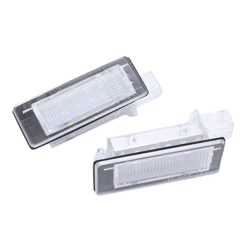 Car <font><b>Led</b></font> License Plate Lights Lamp For <font><b>Renault</b></font> Espace Mk4 Scenic Mk2 Laguna 2 Dacia <font><b>Duster</b></font> Lodgy Logan Mcv Iii image