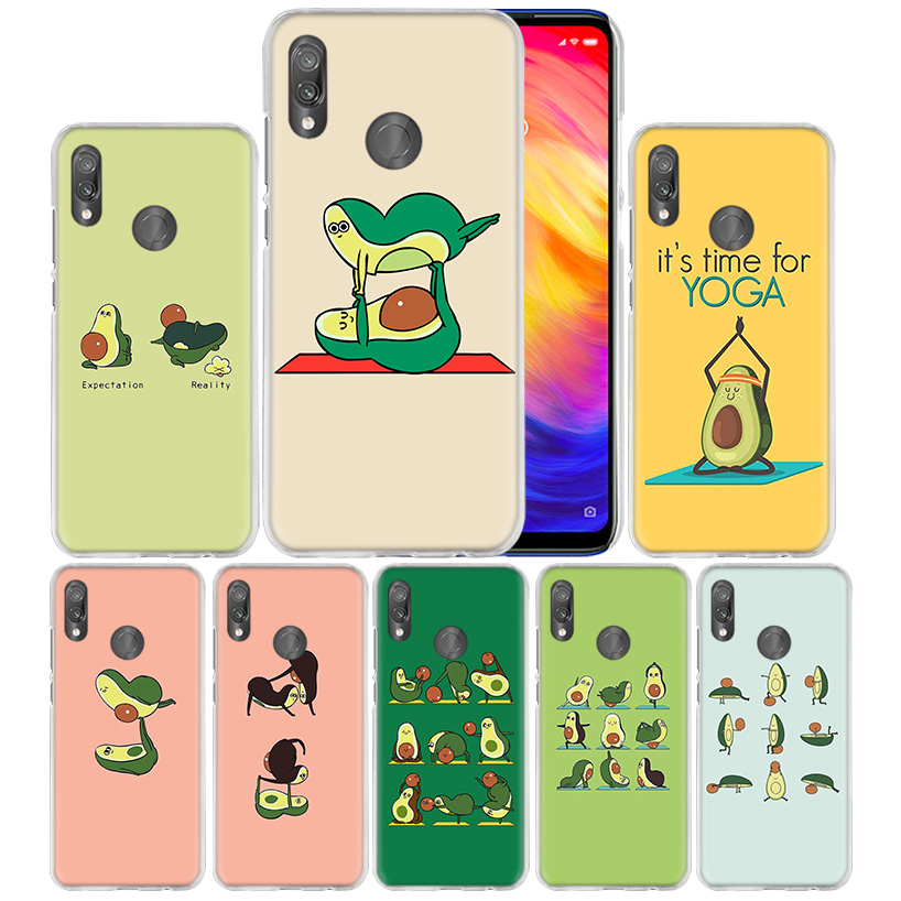 Case Cover for Xiaomi Redmi Note 7 7A 7S 6 6A 5 Y3 K20 Mi 8 9T CC9 CC9E A1 A2 A3 Play F1 Lite Pro Plus avocado yoga-in Half-wrapped Cases from Cellphones & Telecommunications