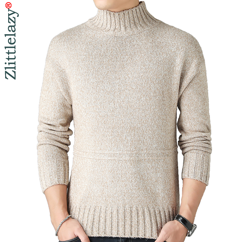2019 New Thick Warm Winter Turtleneck Knitted Pull Sweater Men Wear Jersey Dress Pullover Knit Mens Sweaters Male Fashions 02153