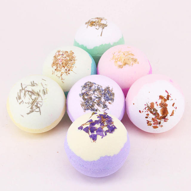 Bath Accessories 1PC 100g Bath Ball Natural Salt Body Skin Care Bubble Bombs Skin Exfoliati Shower Salts 1