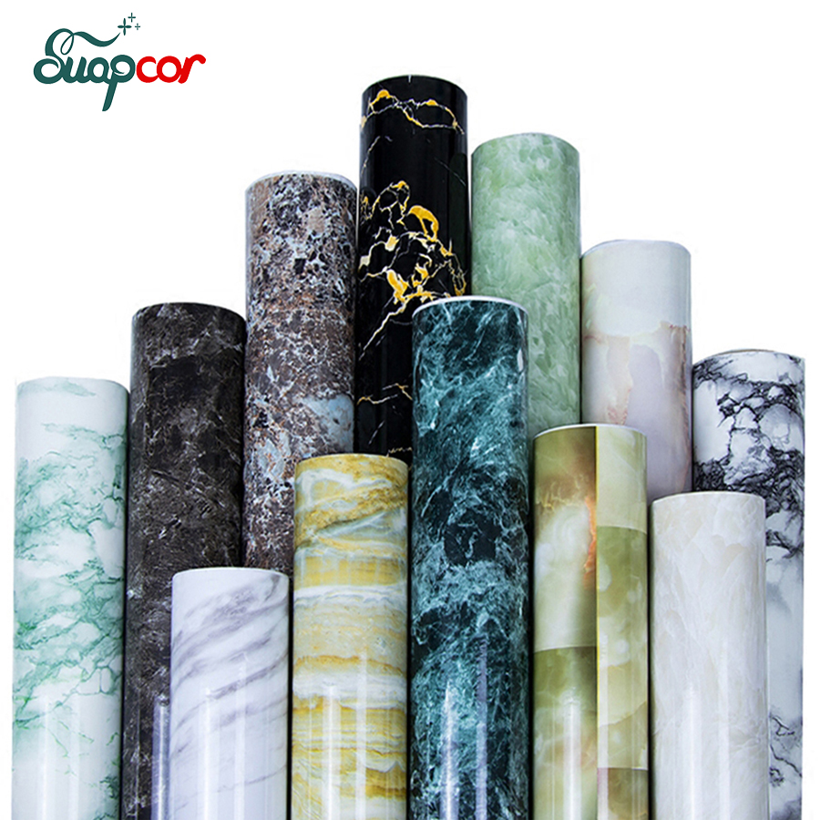 3mx0.6m PVC Marble Self Adhesive Wallpaper Mural Kitchen Bathroom Bar Wall Sticker Furniture Waterproof Stickers Home Decor