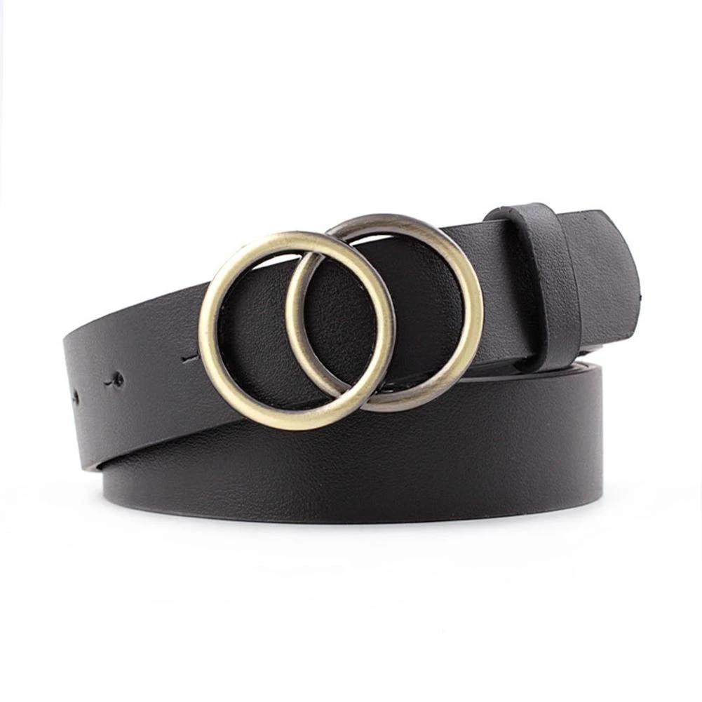 Double Ring Women Belt Fashion Waist Belt PU Leather Metal Buckle Heart Pin  Belts For Ladies Leisure Dress Jeans Wild Waistband|Women's Belts| -  AliExpress