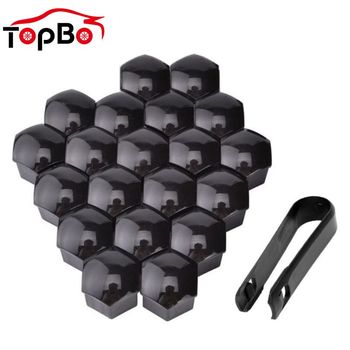 20Pcs Car Wheel Nut Caps 17 19 21mm Wheel Lug Bolt Center Nut Covers Caps Anti-Rust Hub Screw Protector Car Accessories image