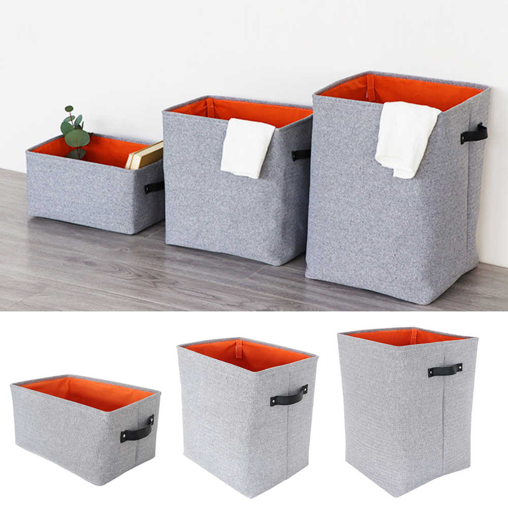 Neue Mode Baumwolle Leinen Faltbare Wäsche Korb Wasserdichte Eimer Schmutzige Kleidung Lagerung Box Bin Spielzeug Korb Oragnizer M/L /XL