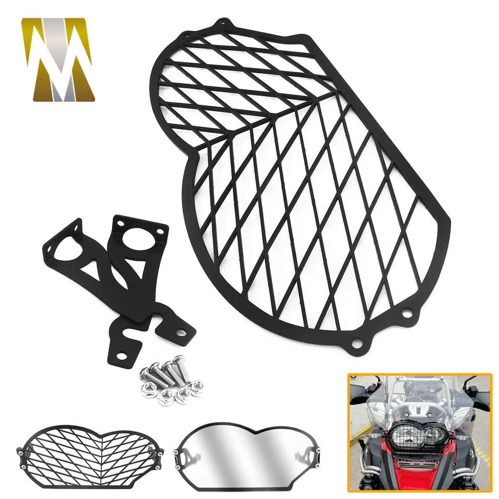 For R <font><b>1200</b></font> <font><b>GS</b></font> 2012 2011 2010 Motorcycle Head Light Cover Protection for R1200 <font><b>GS</b></font> 2004 2005 2006 <font><b>2007</b></font> 2008 2009 Headlamp Guard image