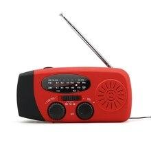 цена на Multifunctional Hand radio Solar Crank Dynamo Powered AM/FM/NOAA music Radio Use Emergency LED Flashlight and Power Bank