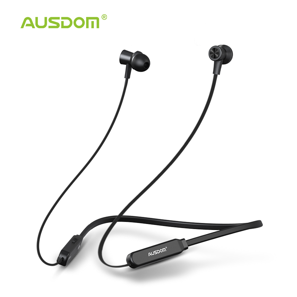 AUSDOM S5 Sport Wireless Bluetooth Earphone Headset High Quality Bluetooth Earbuds With Mic Magnetic Neckband For IPhone Xiaomi