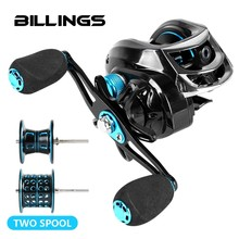 BILLINGS 7.2:1 High Speed Baitcasting Reel 222g 8+1BB Super Long Casting Fishing 8KG Max Drag Carp Fishing Tackle Doble Spool