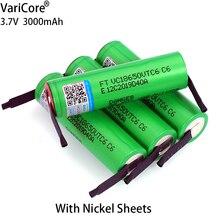 1 10PCS VariCore 3.7V 3000MAh VTC6 18650แบตเตอรี่ชาร์จ Li Ion 18650 VTC6แบตเตอรี่ + DIY นิกเกิลแผ่น