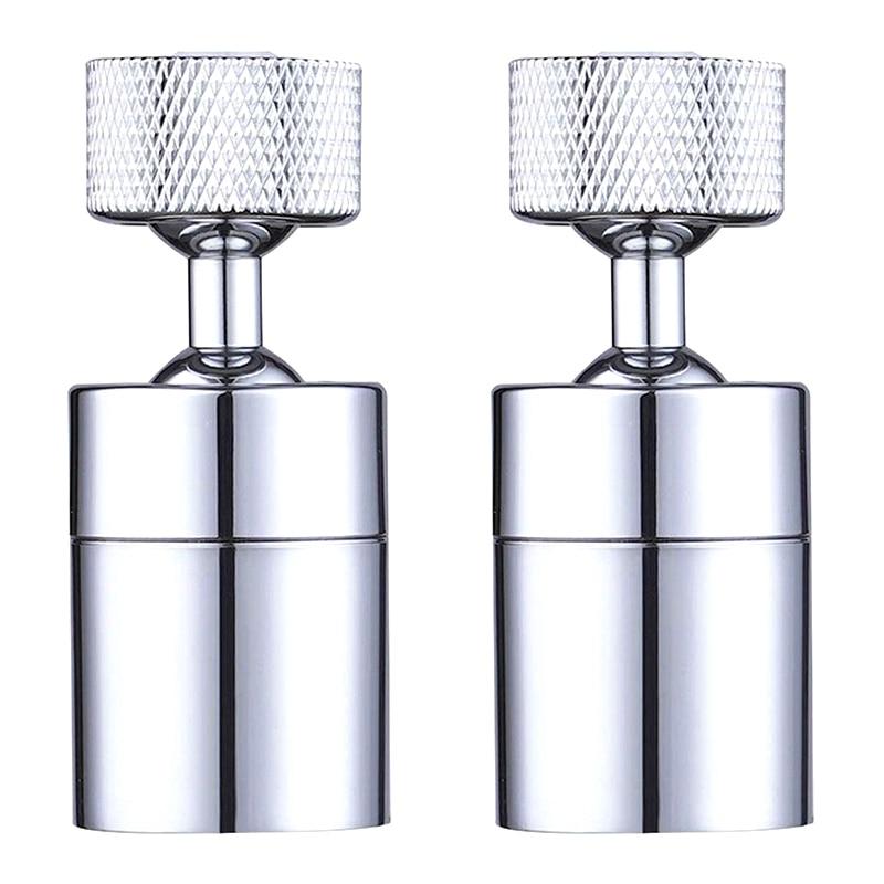 2 Pack Faucet Aerator 80-Degree Rotate Dual-Function Kitchen Sink Faucet Aerators 360-Degree Swivel Water Saving Tap Aerator Dif
