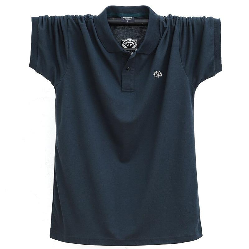 Summer Men Polo Shirt Brand Clothing Pure Cotton Men Business Casual Male Polo Shirt Short Sleeve Breathable Soft Polo Shirt 5XL 5