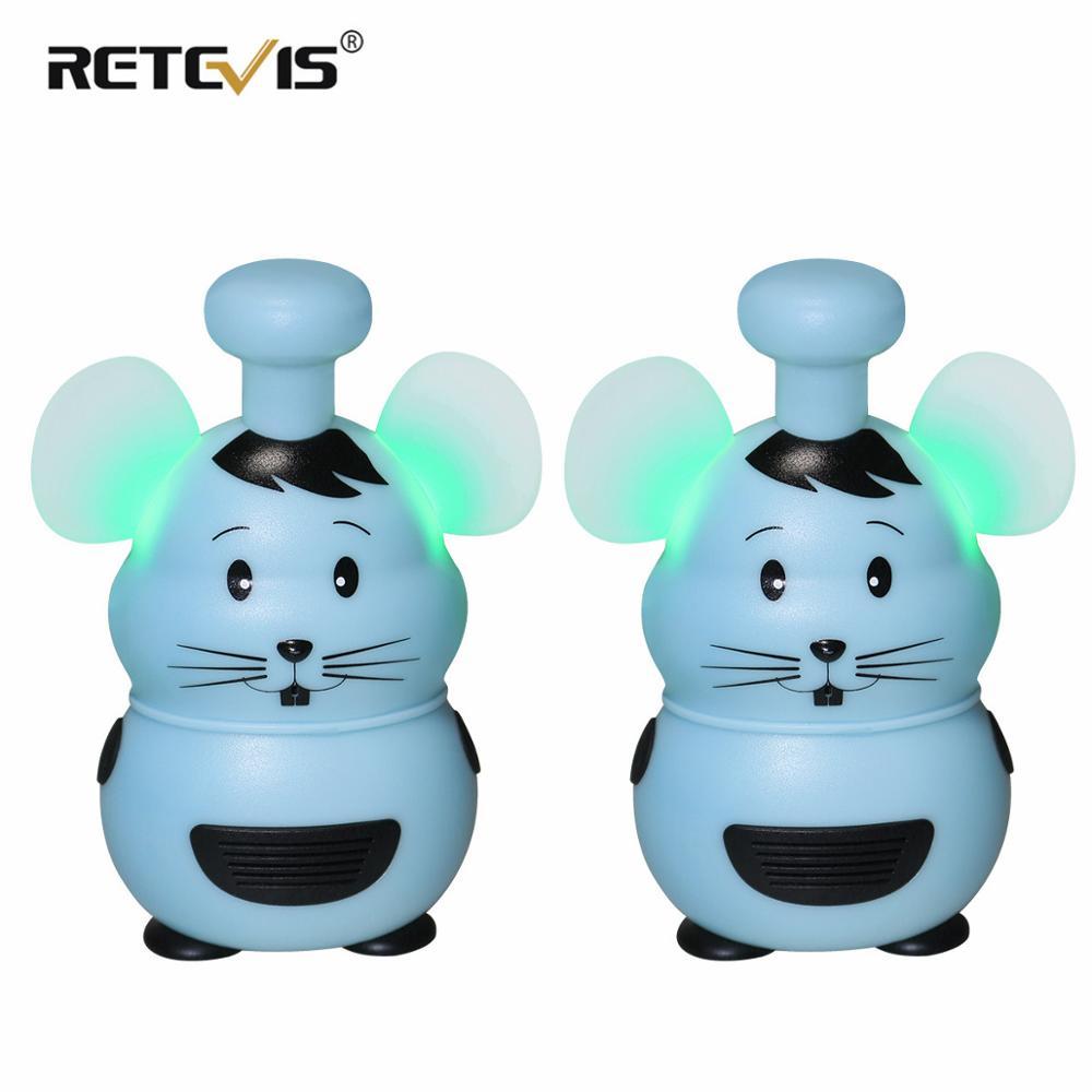 Retevis RT30M Mini Toy Walkie Talkie 2 Pcs Cute Mouse Style PMR 446MHz  Kids Two-way Radio Christmas Gift Birthday Gift 200-800m