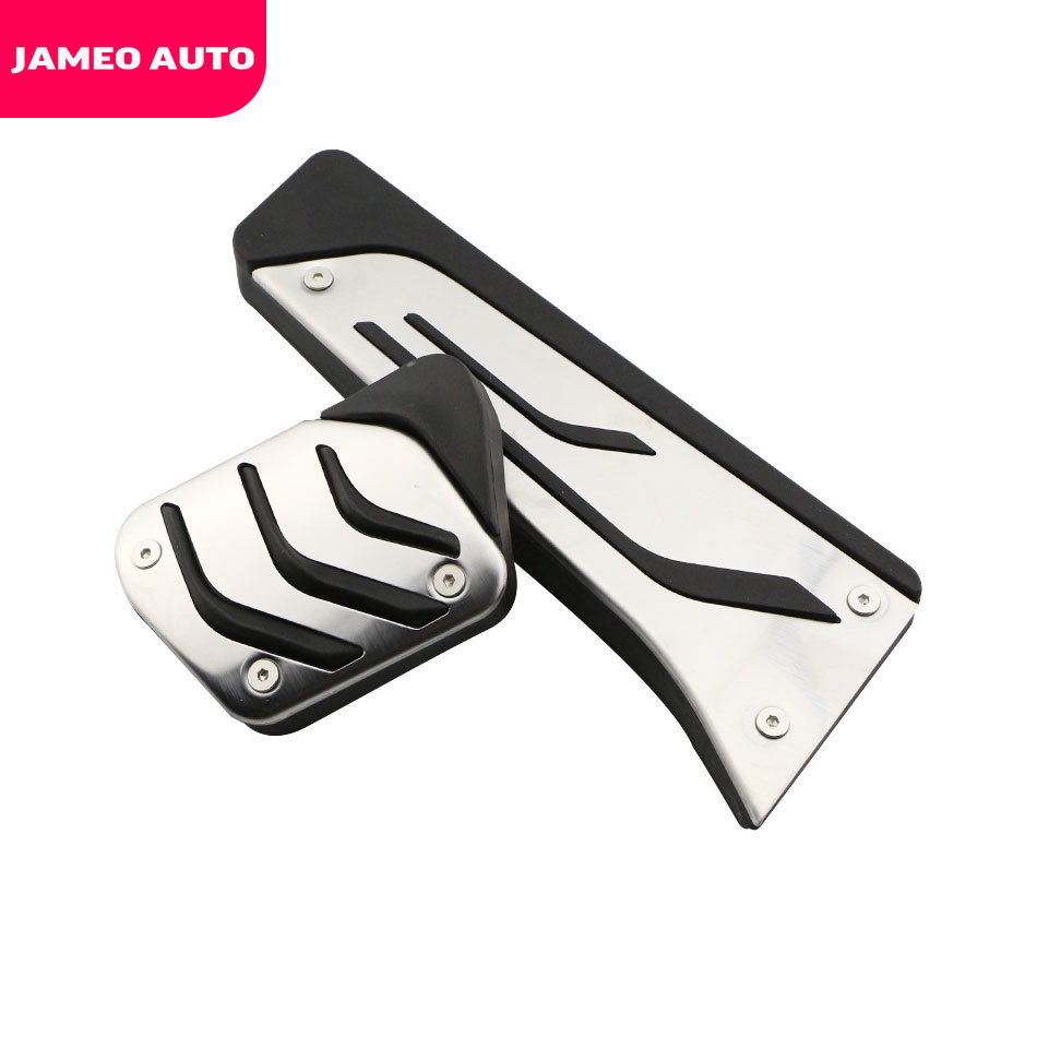 Jameo Auto Stainless Steel Foot <font><b>Pedals</b></font> Rest for <font><b>BMW</b></font> X1 X3 X4 X5 X6 1/2/3/5/6/7 M3 E39 E46 E87 E90 E91 E92 Z4 <font><b>F30</b></font> F20 Car Styling image