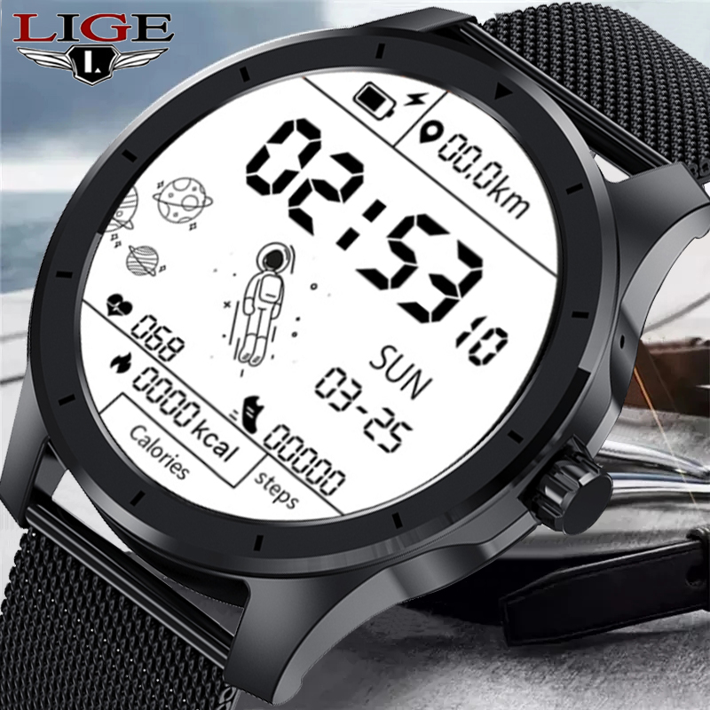 Permalink to LIGE 2021 New Spaceman Dial Bussiness Smart Watch Men Music Playback Bluetooth Call Waterproof Sport Smartwatch For Android IOS