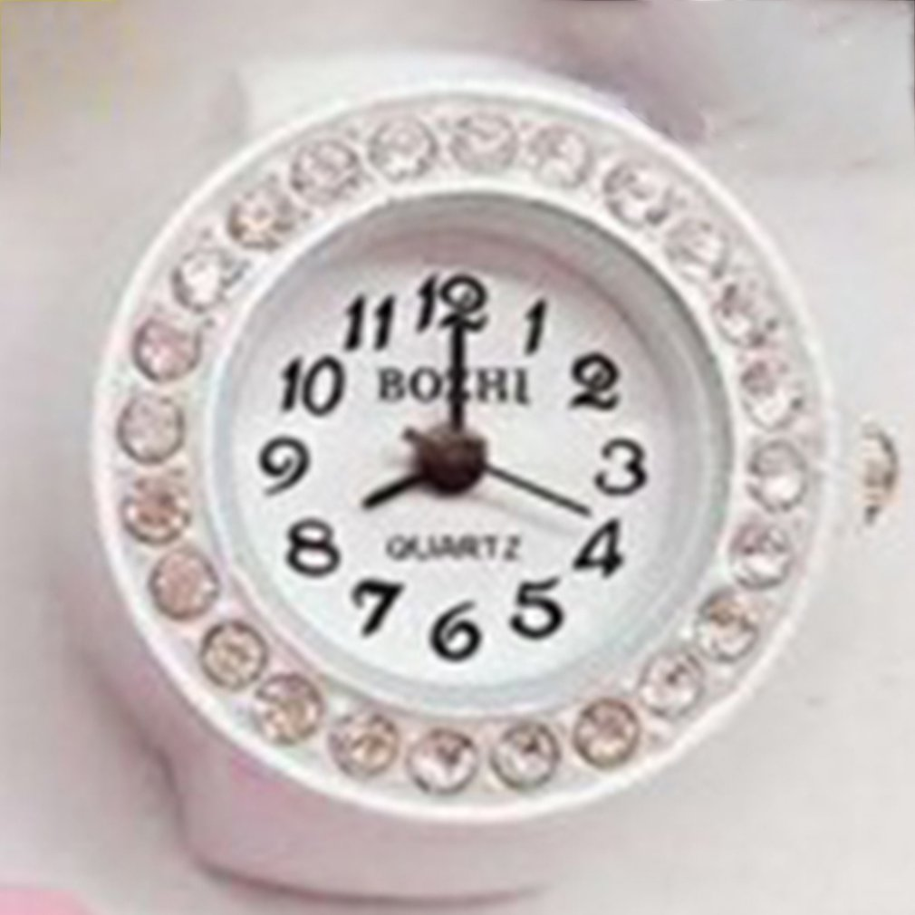 Candy Color Watch Ring Quartz Finger Ring Watches Universal Super Fancy Watch Portable Wristwatch Fashion Watch