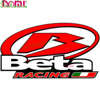 Pegatinas de vinilo para coche Beta Racing, accesorios para moto, parachoques de parabrisas de PVC, personalidad especial, 13x4cm
