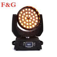 Envío Gratis  dj foco  lavable luz  Lyre zoom cabeza móvil 36x10 w led rgbw 4 en 1  Luz de lavado