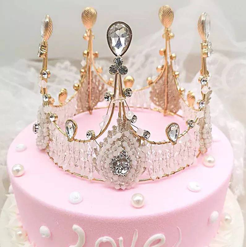 Strange Shining Big Diamond Peral Crown Happy Birthday Cake Topper Queen Funny Birthday Cards Online Inifofree Goldxyz