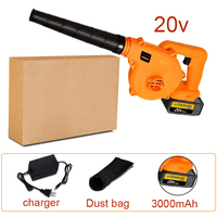 Abeden Electric Leaf Blower 20V MAX Lithium Cordless Sweeper 3.0 Ah Battery Charger Included Turbo Fan Dust Cleaner Collector
