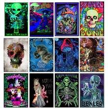 Постер с изображением чужого psychedelic art абстрактная струйная