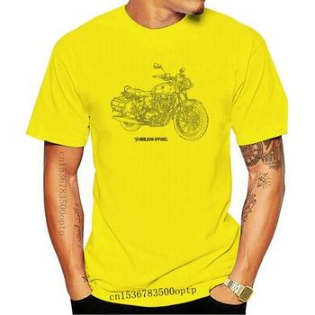 Nowy 2021 2021 list kreatywne drukowane T-Shirt włoski klasyczny w kształcie motocykla fani Imperiale 400 2021 inspirowane motocykl Hipster Tsh tanie i dobre opinie CASUAL SHORT CN (pochodzenie) COTTON Cztery pory roku Na co dzień Z okrągłym kołnierzykiem 2018 men women Sukno Drukuj