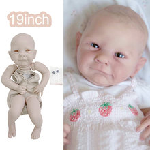 19Inch Popular Limited Edition Ava Reborn Vinyl Doll Kit Certificate fresh Color Soft Touch