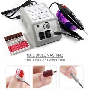 Image 5 - プロフェッショナル電気マニキュアセットプロドリルネイルファイルビットマニキュアマシン電動爪やすりセラミックネイルデコレーション