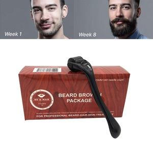 0.25mm 540 Needles Beard Growth Roller Facial Roller Skin Care Micro Needle For Beard Growth Beard Care Treatment Tool(China)