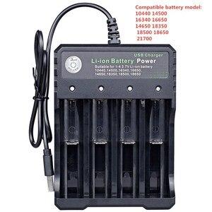Image 2 - 3.7V 18650 Caricabatterie Li Ion Caricatore del USB della batteria di ricarica indipendente portatile sigaretta elettronica 18350 16340 14500 battery Charger