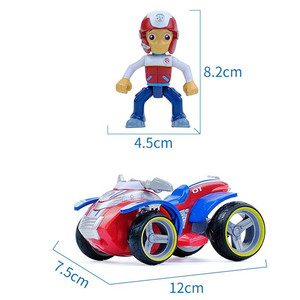 Image 5 - Echtes Paw Patrol Spielzeug Set Spielzeug Auto Everest Apollo Tracker Ryder Skye Blättern Action Figur Anime Modell Spielzeug für Kinder geschenk