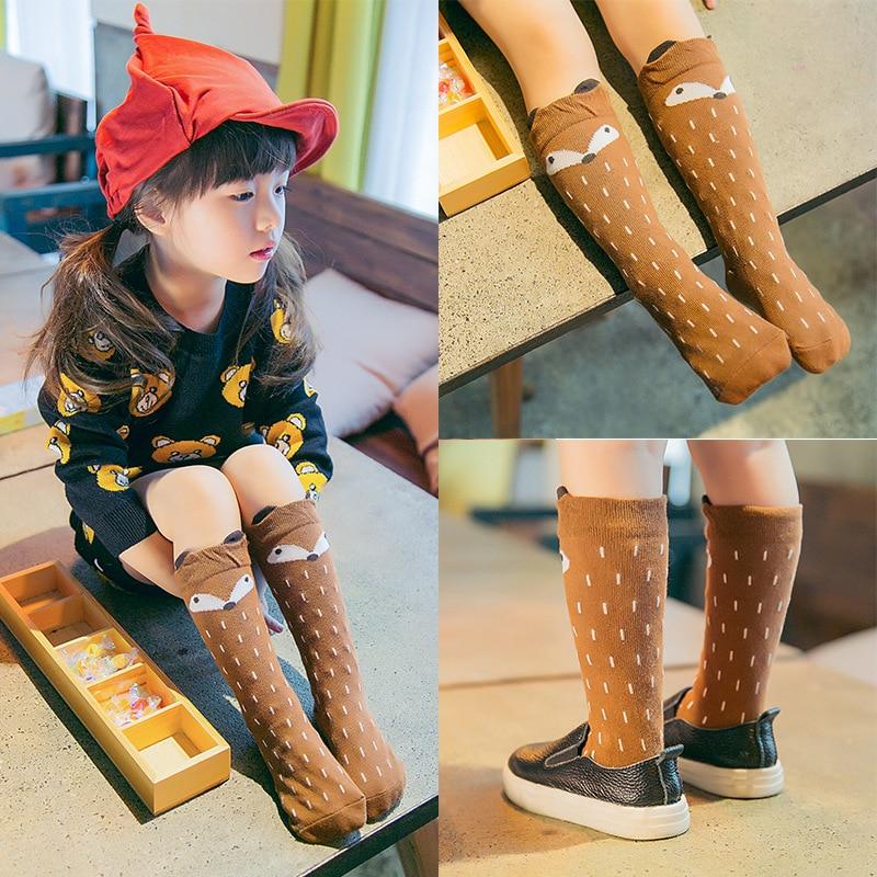 Newborn-Toddler-knee-high-sock-Baby-Boy-bebe-Girl-fox-Socks-anti-slip-cotton-Cartoon-Animal (2)