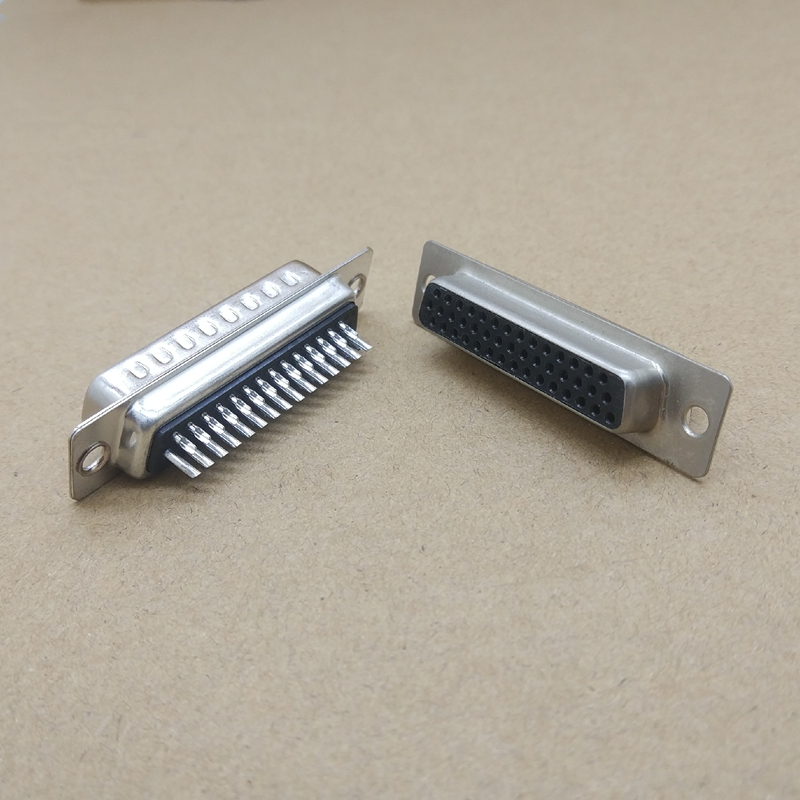 10 Pcs New D-SUB 44 Pin Female Solder Type Plug Adapter <font><b>Connector</b></font> 3 Rows Serial Port Connectors image