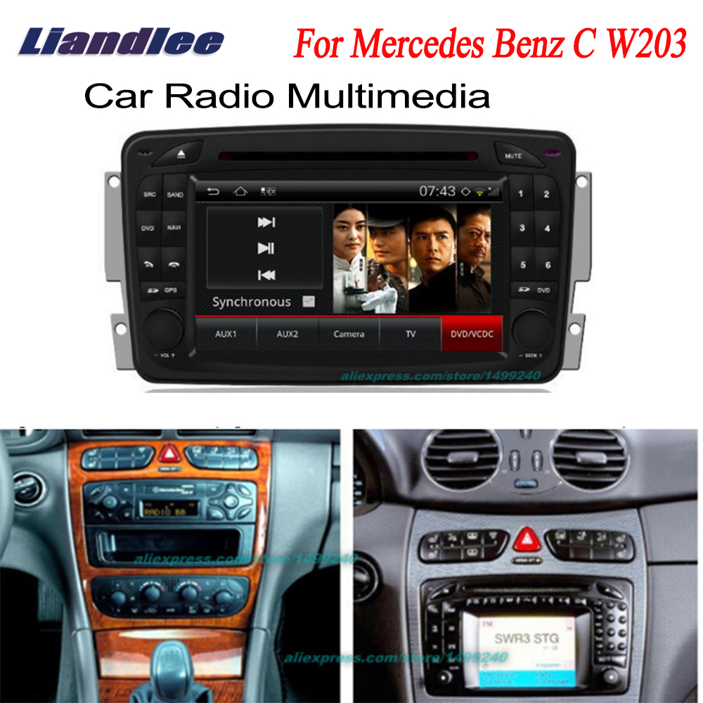 Liandlee 2 din Car Android For Mercedes <font><b>Benz</b></font> C <font><b>W203</b></font> 2001~2004 <font><b>Radio</b></font> GPS <font><b>Navi</b></font> Nav Maps CD DVD player Audio TV HD screen OBD2 image